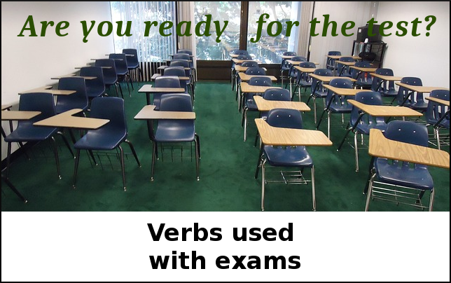 Exam vocabulary in English